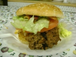 "The world famous ""Ghetto Burger"" uncut"