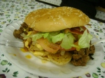"The world famous ""Ghetto Burger"" cut..."